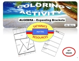 COLORING ACTIVITY - Expanding Brackets