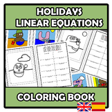 Coloring book - Holidays - Linear equations - Vacaciones -