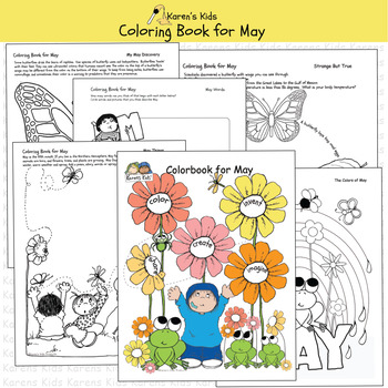ALL ABOUT MAY Think Create Color (Karen's Kids Printables)