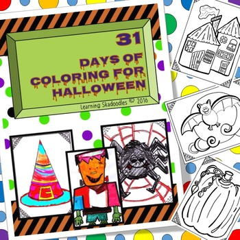 Halloween Countdown in Coloring Pages