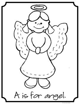 Christmas Coloring: A to Z