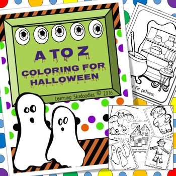 Halloween Coloring the Alphabet
