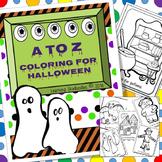 Halloween Coloring the Alphabet