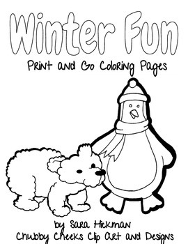 Winter Coloring Pages by Sara Hickman Designs | Teachers ...