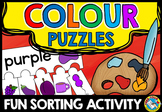 COLOURS SORTING ACTIVITY: COLOUR PUZZLES: SORT AND ASSEMBLE