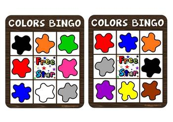 COLORS BINGO GAME (American vocabulary)
