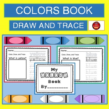 COLORS BOOK - DRAW AND TRACE