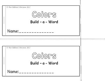 COLORS BUILD - A - WORD