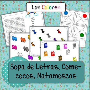 COLORS, COLORES big packet of PRACTICE activities!