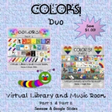 COLORS! Duo Virtual Library & Music Room - SEESAW & Google Slides