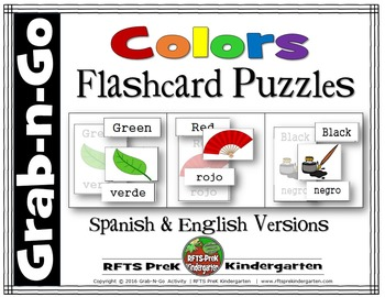 COLORS LEARNING PUZZLES.