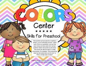 COLORS Matching Center for Preschool