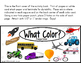 COLORS Matching and Color Words Adapted Books for Autism a
