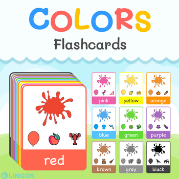 photo relating to Printable Colors identified as Hues - Printable Flashcards Find out Prepare hues within English