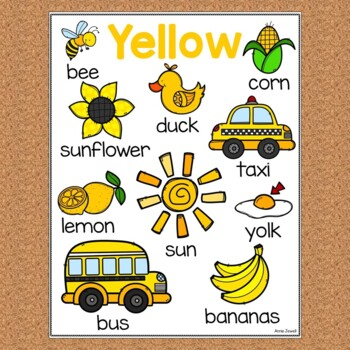 COLORS Small Posters or Pictionary Pages