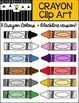 COLORS WORKSHEETS, POSTERS, and 12 CRAYONS CLIP ART