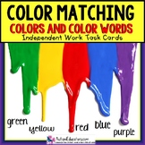"COLORS and COLOR WORDS Task Cards ""Task Box Filler"" for Autism and Special Needs"
