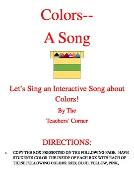 Colors Song....Let's Sing an Interactive Song about Colors!