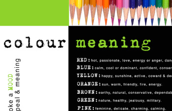 VISUAL LITERACY - COLOUR MEANING POSTER