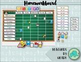 COLOURFUL Homeworkboard decor