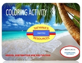 COLOURING ACTIVITY - ADDING, SUBTRACTING AND MULITPLYING MATRICES