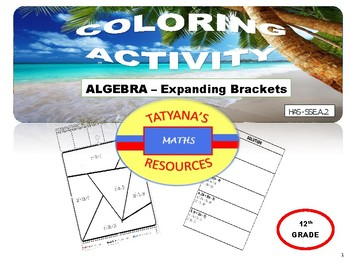 COLOURING ACTIVITY - Expanding Brackets