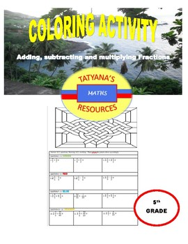 COLOURING ACTIVITY - Fractions