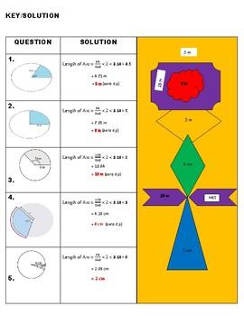 COLOURING ACTIVITY - Measurement Arc length