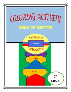 COLOURING ACTIVITY - Measurement Area of Sector