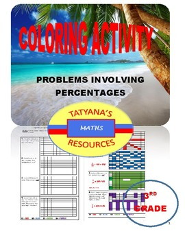 COLOURING ACTIVITY - Problems involving Percentages