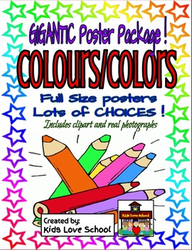 COLOURS/COLORS --Full-Size Posters-ENGLISH-Lots of Variations!