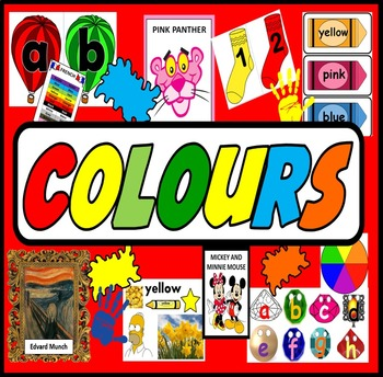 COLOURS TEACHING RESOURCES DISPLAY ART DISPLAY EARLY YEARS EYFS KEY STAGE 1