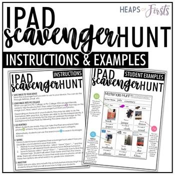 COLOURS - iPad Scavenger Hunt