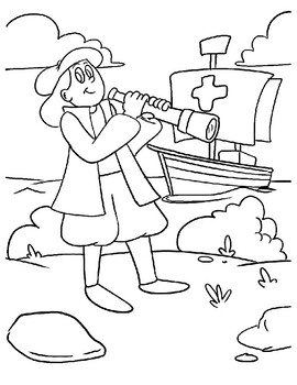 COLUMBUS DAY COLORING, BUNDLE 7 PAGES, COLUMBUS DAY ACTIVITIES