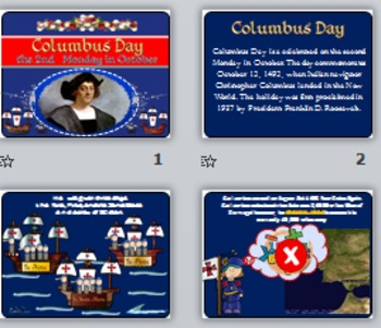 COLUMBUS DAY Power Point Presentation (PPT)