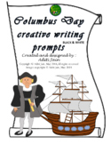 COLUMBUS DAY writing prompt black&white