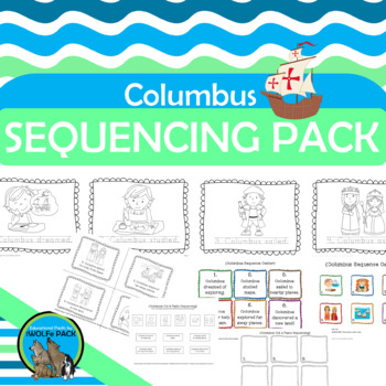 COLUMBUS Sequencing Literacy Activities FREE PreK & Kindergarten
