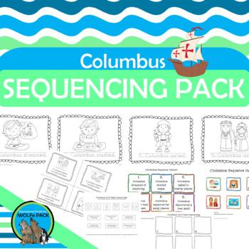COLUMBUS Sequencing Literacy Activities FREE PreK & Kindergarten