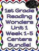 COMPLETE SET 1st Grade Reading Wonders Unit 1 Weeks 1-5 Centers Pack!