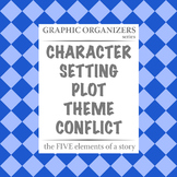 COMBINED: The FIVE Elements of a Story Graphic Organizers - Bundle