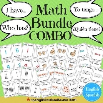 COMBO Bundle - I Have, Who Has Math ~ Yo Tengo, ¿Quién Tiene? Matemáticas