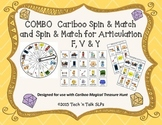 COMBO Cariboo Spin & Match and Spin & Match for Articulation F, V & Y