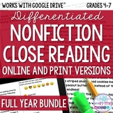COMBO Differentiated Nonfiction Close Reading Comprehensio