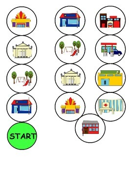 Community Buildings ESL Workbook & Games Package