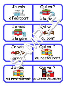 Community Buildings / La communauté FRENCH Workbook & Games Pack