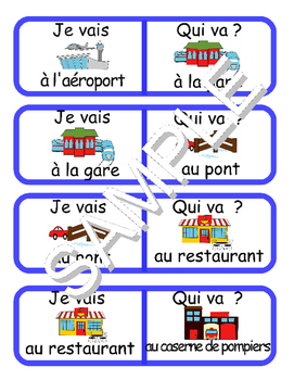 Community Buildings / La communauté FRENCH Workbook & Games Pack