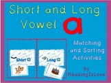 COMBO PACK - Short and Long Vowels Differentiated Matching & Sorting Activities