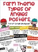 COMBO PACK- Types of Lines & Types of Angles  Posters with a Farm Theme