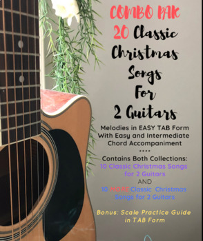 COMBO PAK 20 Classic Christmas Songs for 2 Guitars (Easy TAB and Chords)