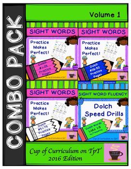 Sight Word Fluency Practice BUNDLE Vol.1